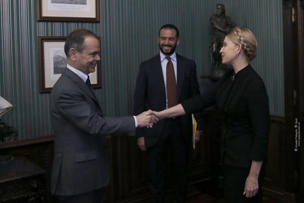 Юлія Тимошенко зустрілася з послом Італії