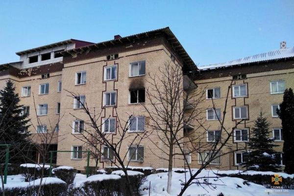 На Тернопільщині горів студентський гуртожиток (Фото)