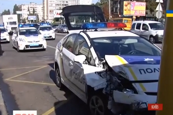 В Україні розбивають кожен другий поліцейський патрульний автомобіль