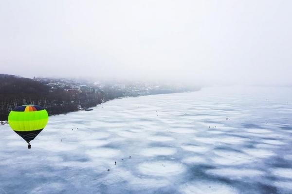 У мережі показали, як виглядає Тернопіль з повітряної кулі (Фото)
