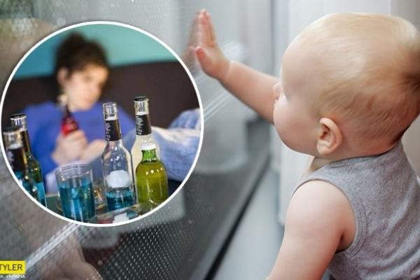 На волоску від смерті: п'яна мати залишила дитину на підвіконні й пішла спати