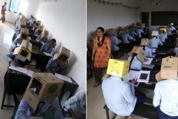 Студенти складали іспити з коробкою на голові