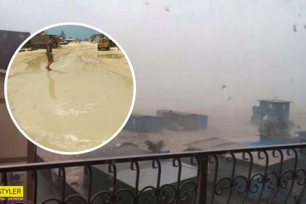 Потужний шторм накрив Кирилівку: як зараз виглядає популярний курорт